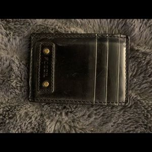 Fossil card wallet with money clip